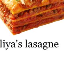 'Liya's Lasagne' design - lovefromliyax Sticker