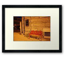 Bank Bench Framed Print