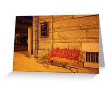 Bank Bench Greeting Card