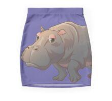 Cute cartoon hippo Pencil Skirt