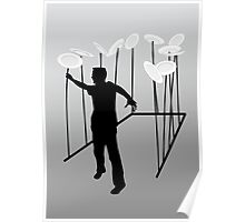 Stressed - spinning plates - card Poster