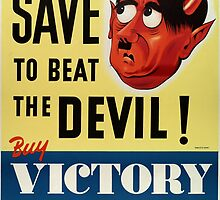 WW2 propaganda print - vintage reproduction propaganda poster - Hitler / Nazi  by verypeculiar