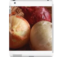 Red, White and Yellow Onions iPad Case/Skin