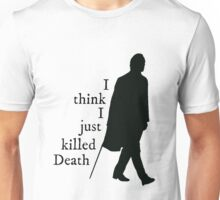 """""""I think I just killed Death"""" Dean Winchester quote Unisex T-Shirt"""