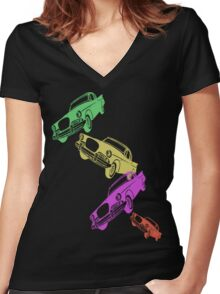 Vintage Cadillac T-Shirt Women's Fitted V-Neck T-Shirt