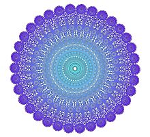 Blue and Purple Lace Photographic Print