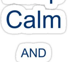 Keep Calm and Just Graduate Sticker