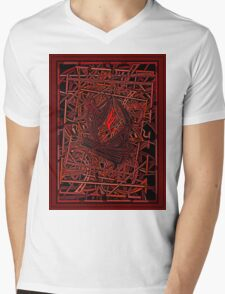 FIRE ABSTRACT Mens V-Neck T-Shirt