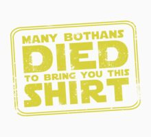 Many Bothans died bring you this shirt Kids Clothes