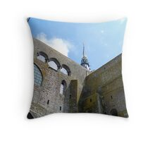 Looking Up - Mont St Michel, France Throw Pillow