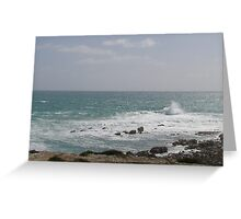 Strong Seas rough up the surf. Greeting Card