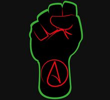 Black Atheist Power Fist  Unisex T-Shirt