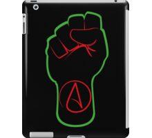 Black Atheist Power Fist  iPad Case/Skin