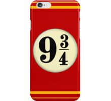 9 3/4 - Red & Yellow iPhone Case/Skin
