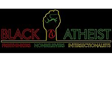 Black Atheist Banner Black Photographic Print