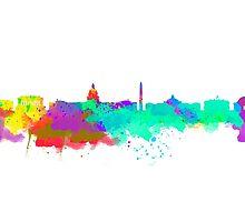 Washington DC Skyline - Water Colours by jackelstub