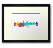 Washington DC Skyline - Water Colours Framed Print
