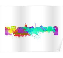 Washington DC Skyline - Water Colours Poster
