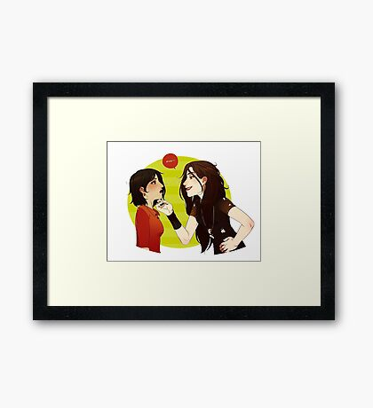 EATYOUALIVE Red Queen Framed Print