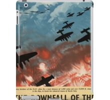 "WW2 War Poster - Vintage Propaganda Poster ""Downfall of Dictators"" iPad Case/Skin"