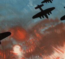 "WW2 War Poster - Vintage Propaganda Poster ""Downfall of Dictators"" Sticker"