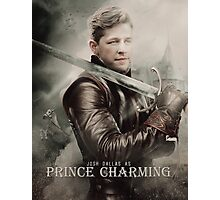 Movie Poster Style - Charming / Josh Photographic Print