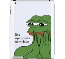 'liya uploaded a new video' design - lovefromliyax iPad Case/Skin