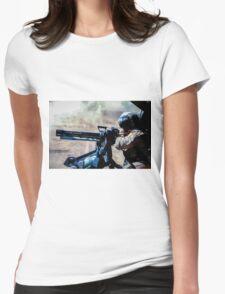 The Gunner - Digital Art / Helicopter Gunner - War / Military Womens Fitted T-Shirt