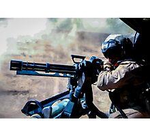The Gunner - Digital Art / Helicopter Gunner - War / Military Photographic Print