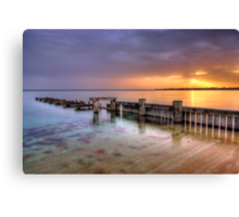 Mentone Sunset Canvas Print