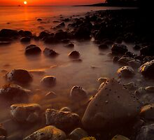 Firth of Thames coast at sunset 5 by Paul Mercer