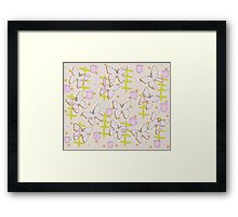 Butterfly and tulips Framed Print