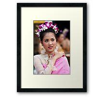 Songran, Chiang Mai, Thailand Framed Print
