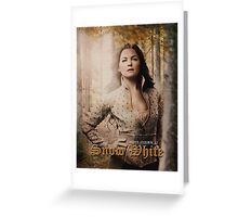Movie Poster Style - Snow / Ginny Greeting Card