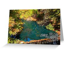 green autumn reflections Greeting Card