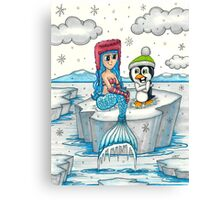Frosty Mermaid Canvas Print