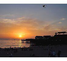Kite at Sunset Photographic Print