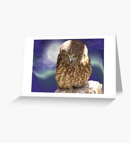 Whoooo me, okay , I did it for a hoot... Greeting Card