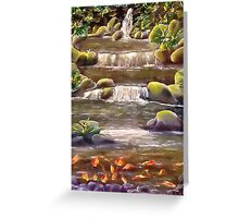 Breakfast With The Koi.......... Greeting Card