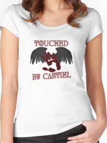 Touched By Castiel Women's Fitted Scoop T-Shirt
