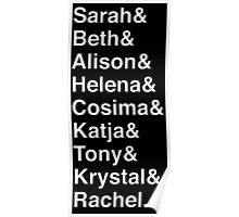 ORPHAN BLACK Helvetica Name List Poster