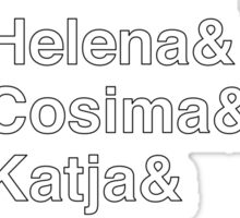 ORPHAN BLACK Helvetica Name List Sticker