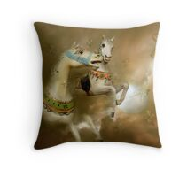Unwinged Horses and Butterflies Throw Pillow