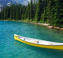 Magic on Moraine Lake  #8 Calendar Series   by Barbara Burkhardt