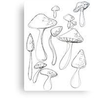 Shroom Doodles Metal Print
