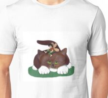 Fairy and Kitty in the Garden Unisex T-Shirt