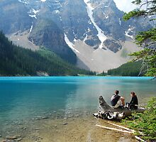 Magic on Moraine Lake #4  Calendar Series   by Barbara Burkhardt