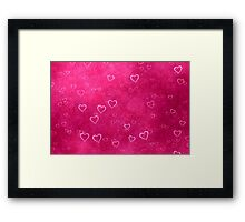 Clouds of Hearths  Framed Print