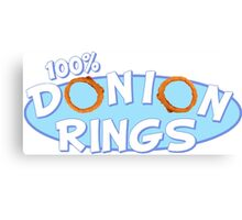 Donion Rings Canvas Print