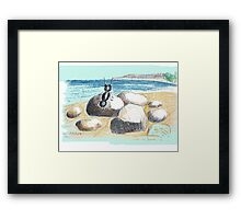 AN ANT ON THE SEASIDE Framed Print